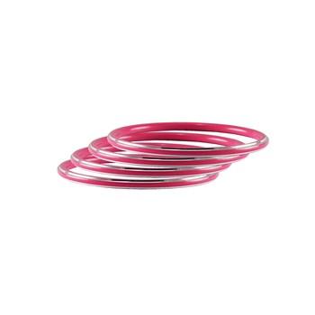 Pink Plain Metal Bangle