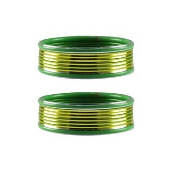 Green Plain Metal Bangle