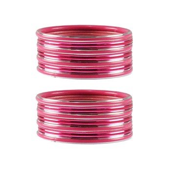 Pink Plain Metal Bangle