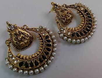 Designer Black colour Ram Leela earings