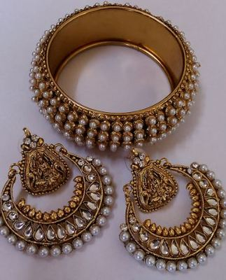Ram Leela Earings with Pearls Kada