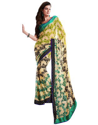 Dealtz Fashion Faux Georgette Saree