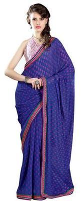 Triveni Beautiful Blue Color Casual Printed Indian Ethnic Designer Trendy Saree