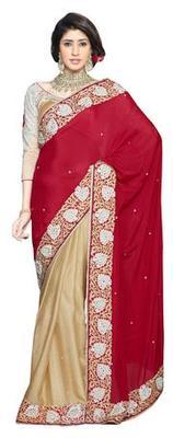 Triveni Stupendous Indian Traditional Wedding Wear Faux Georgette Ethnic Saree