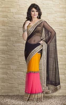 Designer three shade saree