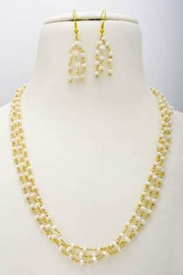 EXCLUSIVE 3 LINE REAL PEARLS TAAR MALA FROM HYDERABAD - PCN1020