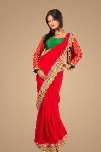 Red charming single colour sadee