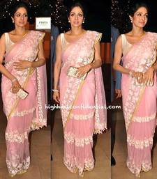 Buy Sridevi net Pink Beauty at birthday bash of Prabodh Davkhare sridevi-saree online