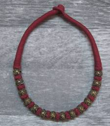 maroon antique gold necklace shop online