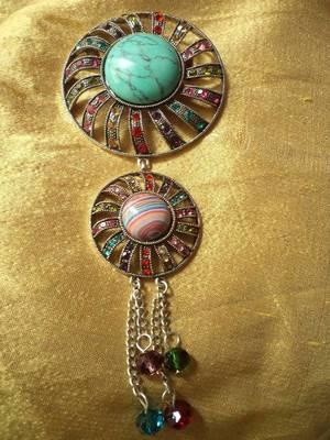 Multicolored Brooch-110140