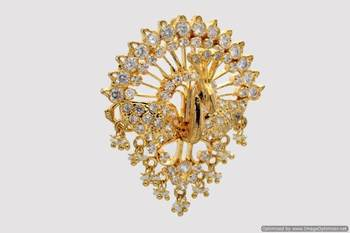 ROYAL PEACOCK AD STONE STUDDED LOCKET & HAIRPIN (2 IN 1) - PCL1001