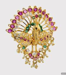 Buy ROYAL PEACOCK MULTI STONE STUDDED LOCKET & HAIRPIN (2 IN 1) - PCL1002 Pendant online