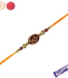 Buy Divine rakhi with wooden om divine-rakhi online