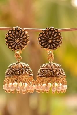 Temple Designer Pair of Earrings