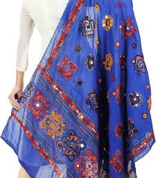Buy Blue cotton stole and dupattas stole-and-dupatta online
