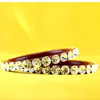 Large size stone bangles colour red size-2.12,2.14