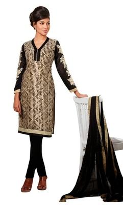 Triveni Geometrical Printed Sleeve Embroidered Salwar Kameez TSFLSK9003b