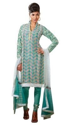 Triveni Vine Motif Embroidered Sleeve Designed Salwar Kameez TSFLSK9006b
