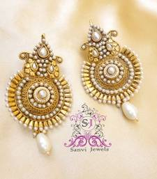Buy Antique Pearl Paisley Earrings danglers-drop online