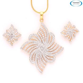 Creative American diamond pendant set