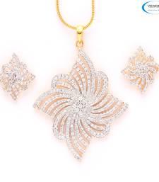 Buy Creative American diamond pendant set Pendant online