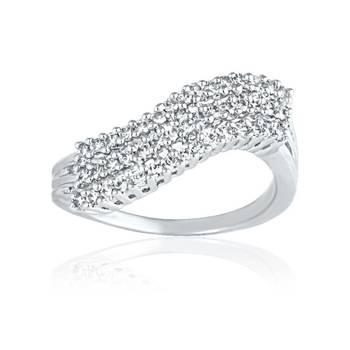 Mahi Rhodium Plated Bright Array Ring