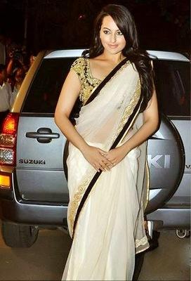 Sonakshi Sinha Butterfly Bollywood Replica Saree