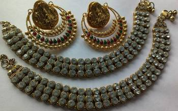 Bollywood Ram Leela Earings & Traditional Anklets