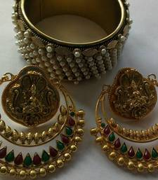 Buy Bollywood Ram Leela Earings & Traditional kada bangles-and-bracelet online