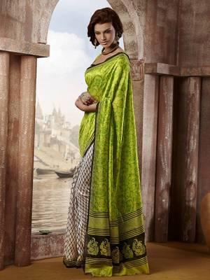 Bhagalpuri silk printed saree with blouse