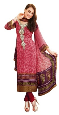 Triveni Elegant Vine & Floral Printed Salwar Kameez TSFLSK6338A