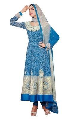 Triveni Ankle Length Paisely Motif Anarkali Salwar Kameez TSFLSK6343B
