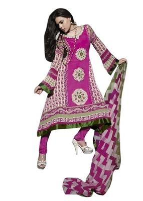 Triveni Classy Floral Embroidered Cotton Salwar Salwar Kameez TSFLSK6345B