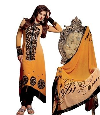Triveni Raveena's Embroidery Applique Work SalwarSalwar Kameez TSFLSK5002