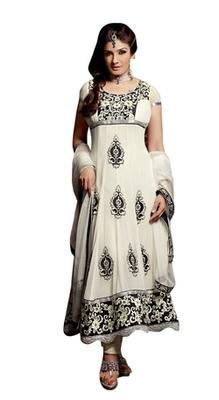 Triveni Raveena's Floral Embroidered Anarkali Salwar Kameez TSFLSK5005