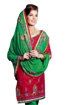 Triveni Pleasing Floral Motif Cotton Salwar Kameez TSHMSK1046