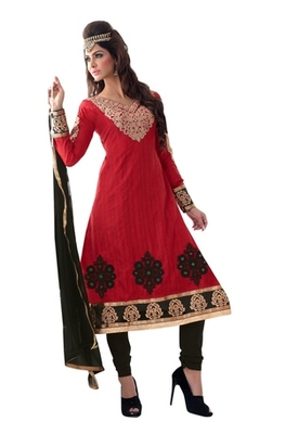 Triveni Traditional motif embroidered Salwar Kameez 16684