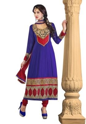 Triveni Floral motif applique worked Salwar Kameez 202
