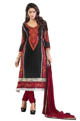Triveni Floral motif applique worked Salwar Kameez 208