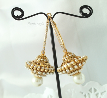 Traditional earrings jhumkas hoops danglers drops stone pearl designer indian handmade