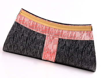Designer Black and Pink Clutch