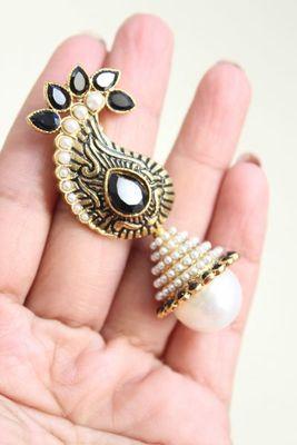 Black and White Mango Earrings