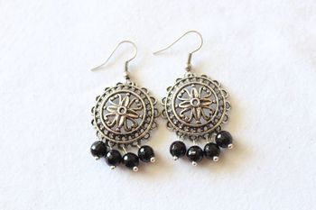 Round Metal Earrings