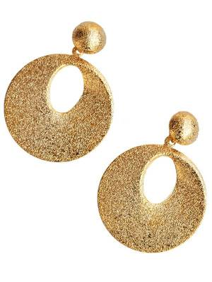 Shimmery Golden College Party Hanging Earrings