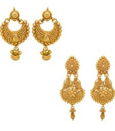 Buy Donna Combo of Festive Delight gold plated earrings for Women danglers-drop online