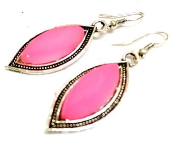 Pink Casual Earrings