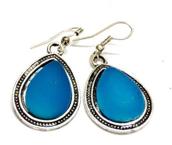 Blue cool causal Earrings