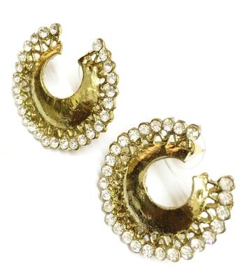 Trendy Look Earrings Golden