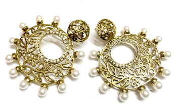 Golden Traditional Earrings2