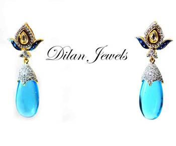 Aqua Blue Earings